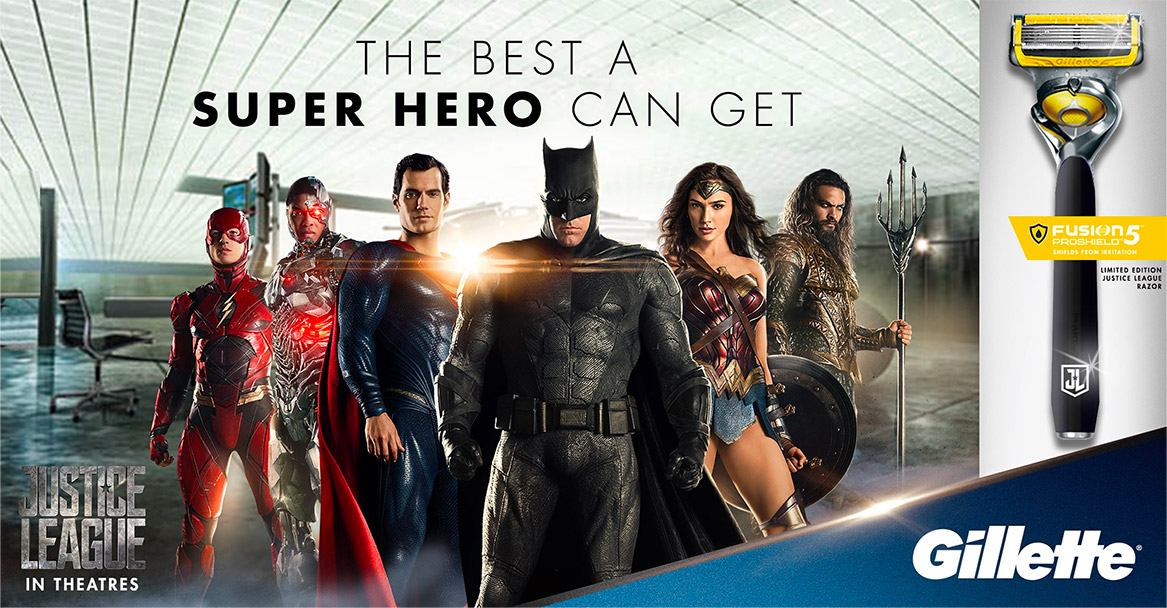 Gillette Justice League Film Partnership Warner Bros DC