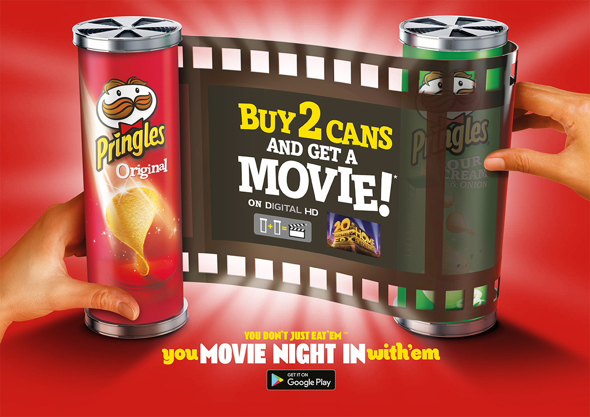Pringles 20th Century Fox Film Partnership Movie Streaming Downloads Sales Promotion