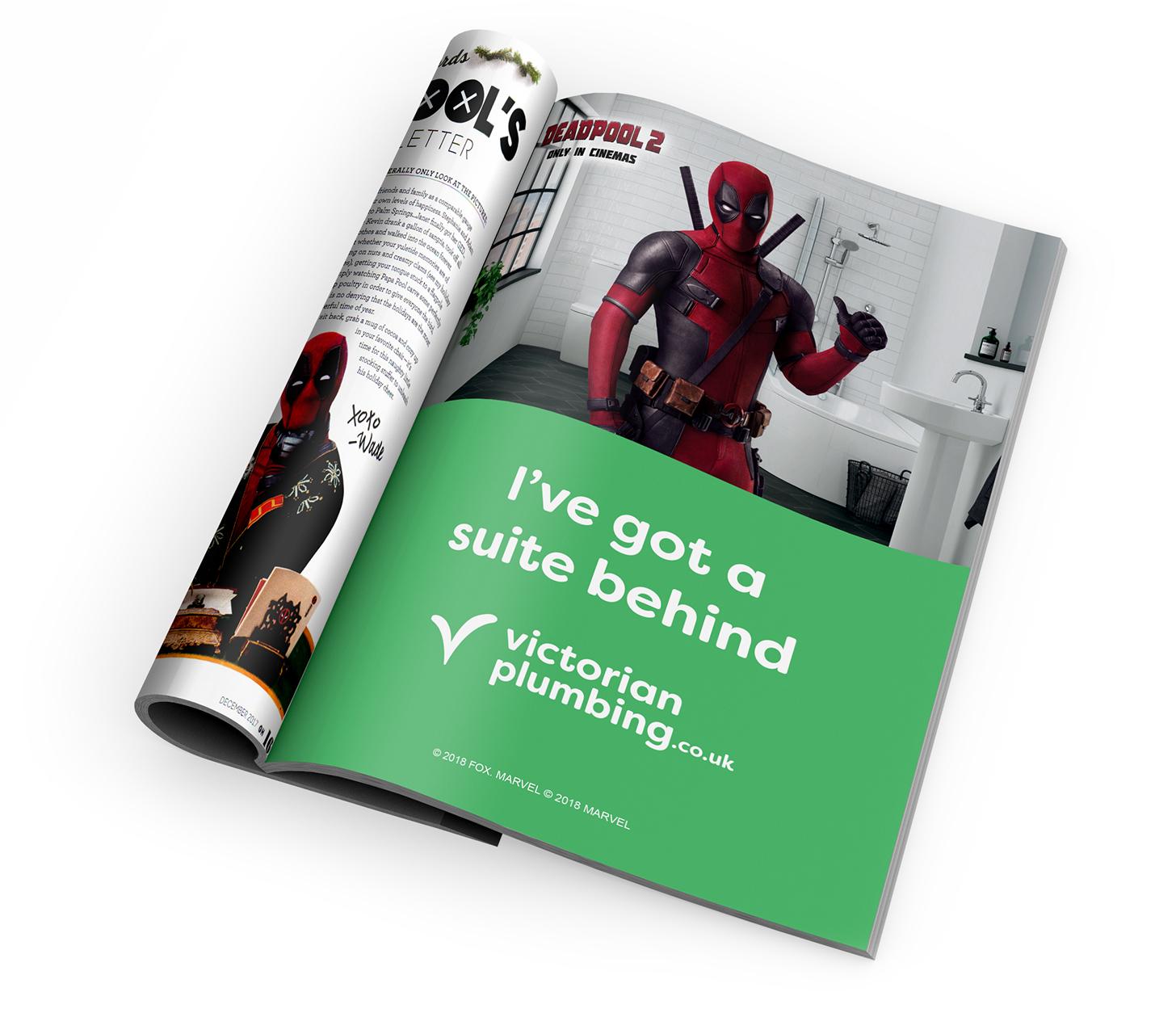 Deadpool 2 Film Partnership Victorian Plumbing Promotion