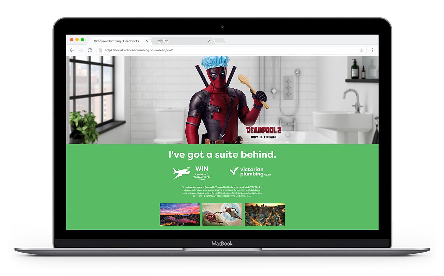 Deadpool 2 Film Partnership Victorian Plumbing Microsite Promotion
