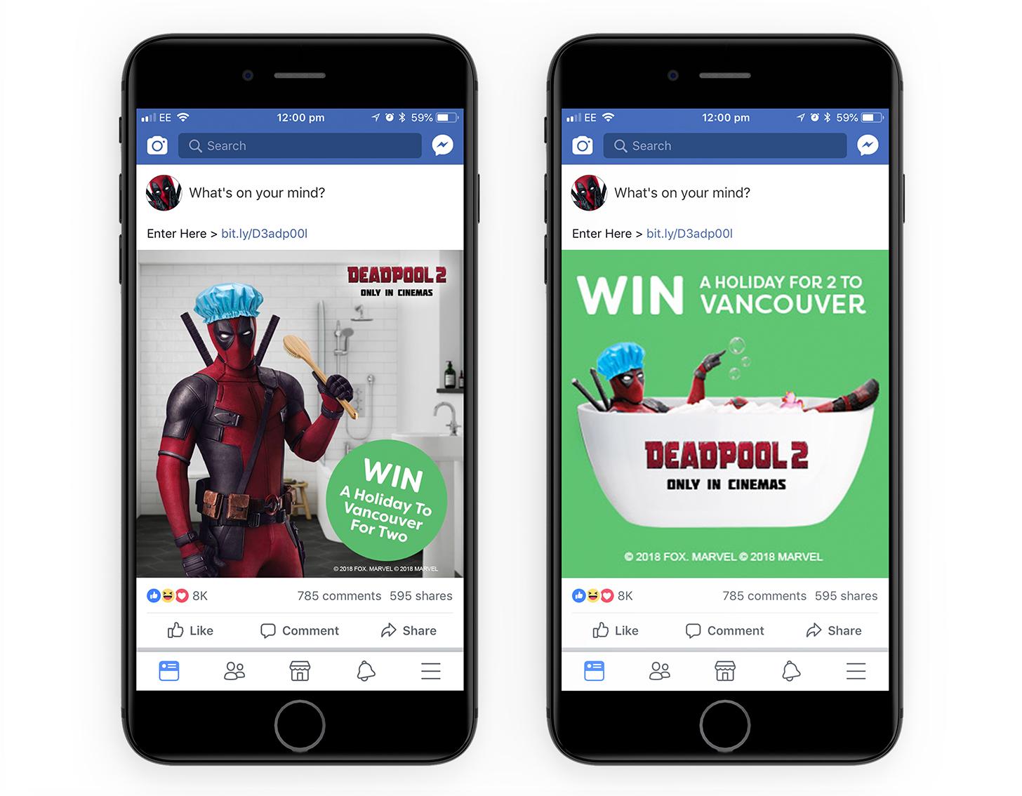 Deadpool 2 Film Partnership Victorian Plumbing Social Facebook Promotion
