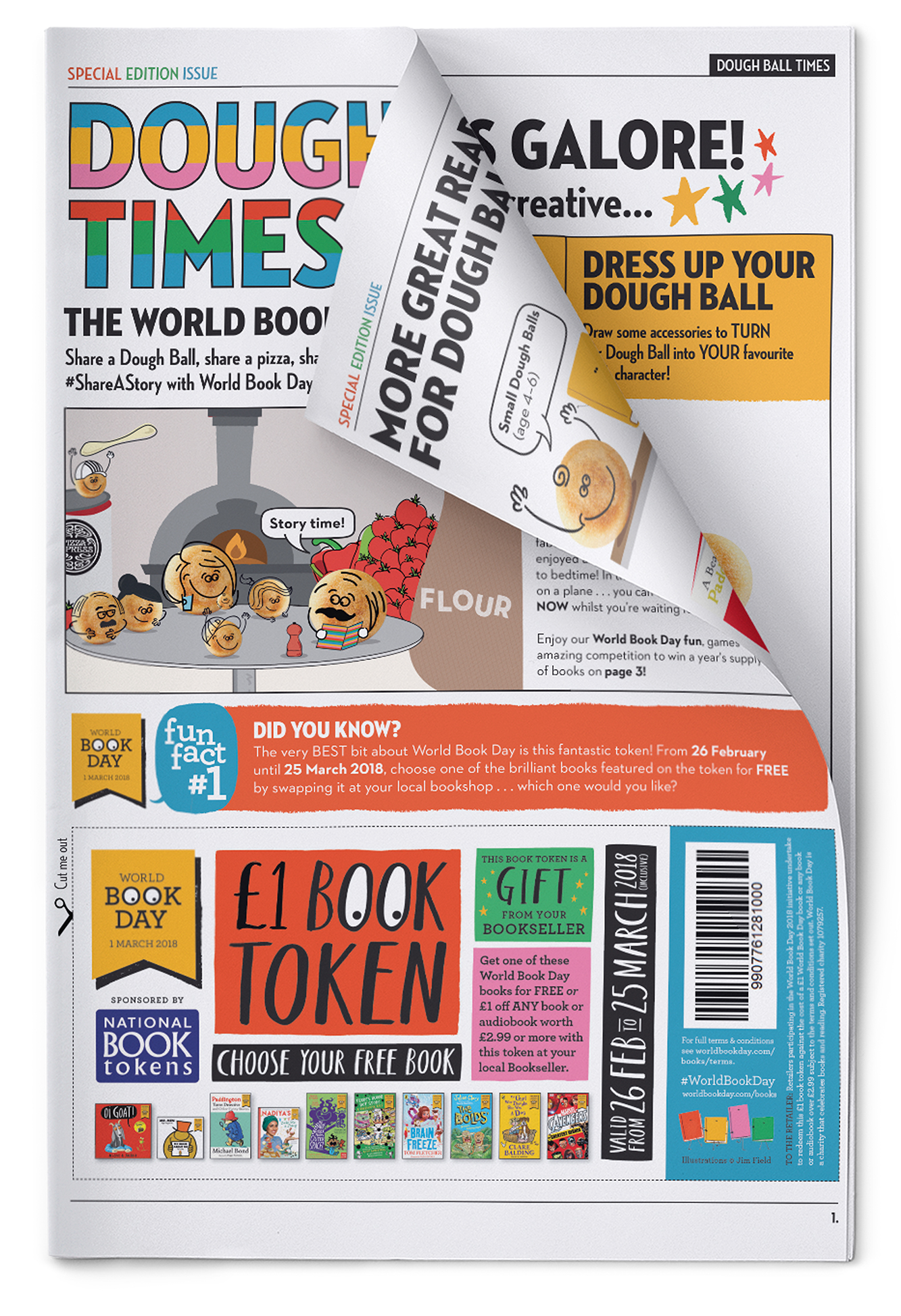 Pizza Express World Book Day Doughball Times News Paper Brand Partnership Sales Promotion